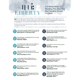 True Liberty: 2-Week Bible Reading Plan (PDF)